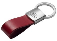 Брелок для ключей Land Rover Leather Loop Keyring, Red