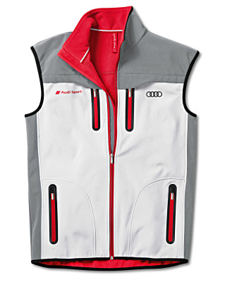 Мужской жилет Audi Sport Mens Soft Shell Vest Grey