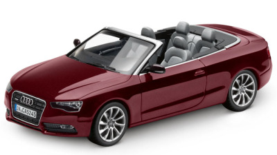 Модель Audi A5 Cabriolet, Shiraz red, 2013, Scale 1 43