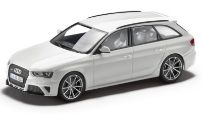 Модель Audi RS 4 Avant, Ibis white, 2013, Scale 1 43
