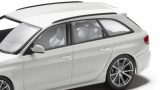 Модель Audi RS 4 Avant, Ibis white, 2013, Scale 1 43, артикул 5011214213