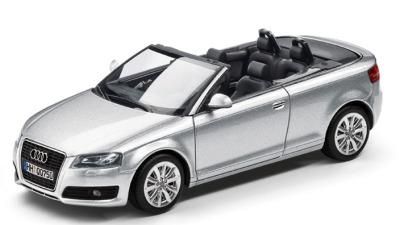 Модель Audi A3 Cabriolet, Ice silver, 2013, Scale 1 43