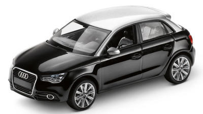 Модель Audi A1 Sportback, Phantom black, Scale 1 43