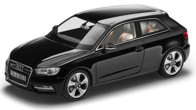 Модель Audi A3, Phantom black, 2013, Scale 1 43