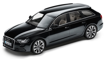 Модель Audi A6 Avant, Phantom black, 2013, Scale 1 43