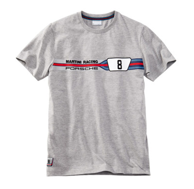 Мужская футболка Porsche Martini Men's T-shirt, Grey