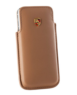 Кожаный чехол для iPhone 5 Porsche Case for iPhone 5, Cognac