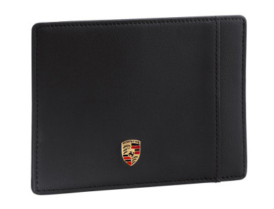 Кожаная кредитница Porsche Credit card case, Leather Black