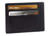Кожаная кредитница Porsche Credit card case, Leather Black, артикул WAP0300200E