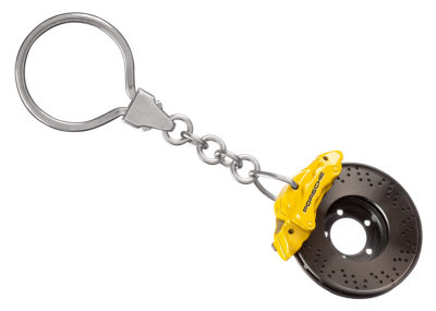 Брелок Porsche Brake-disc keyring Yellow