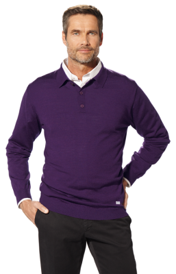 Мужской свитер BMW Collection Men's Knitted Polo Sweater purple