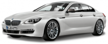 Модель BMW 6er Gran Coupé (F06) White, Scale 1:18