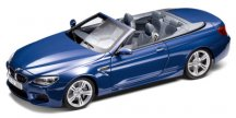 Модель автомобиля BMW M6 Convertible (F12 M) San Marino Blue, Scale 1:18