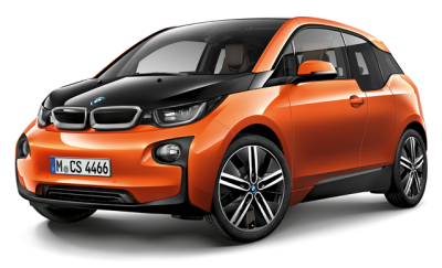 Модель BMW i3 (i01), Scale 1:43, Black/Orange