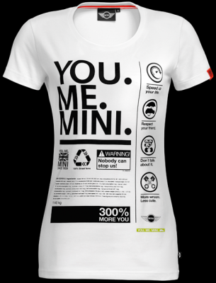 Женская футболка Mini Ladies' T-shirt, You.Me.Mini. White
