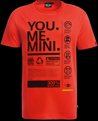 Мужская футболка Mini Men's  T-shirt, You.Me.Mini. Orange