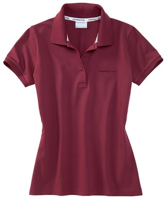 Женское поло Porsche Women's polo shirt Burgundy
