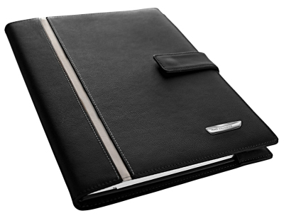 Обложка для записной книжки Audi Exclusive Notebook sleeve Audi excl., black/alabaster