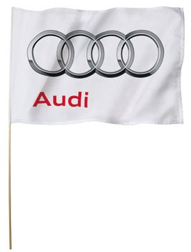 Большой флаг Audi flag 150x100cm, white
