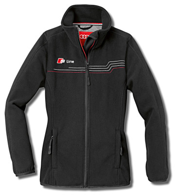 Женская куртка Audi Womens Fleece Jacket, S line, Black