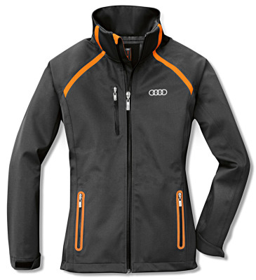 Женская куртка Audi Womens Softshell Jacket, XS, R8 LMS, Grey/Orange