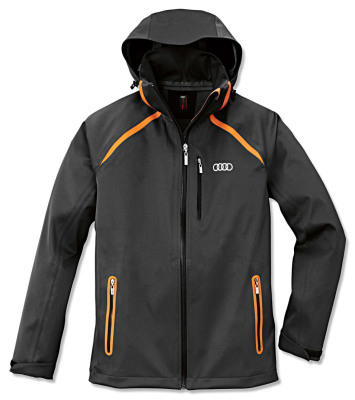 Мужская куртка Audi Mens Softshell Jacket, R8 LMS, Grey/Orange