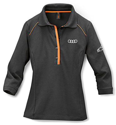Женская рубашка поло Audi Womens Poloshirt, R8 LMS, Grey/Orange