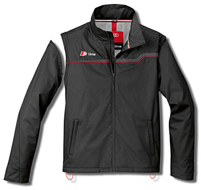 Мужская куртка-жилет Audi Mens Zipoff Jacket, S line, Black