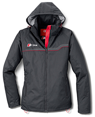 Женская куртка Audi Womens Outdoor Jacket, S line, Black-Grey Mottled