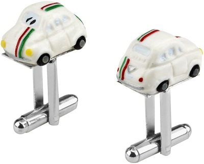 Запонки Fiat three-colour new 500 cufflinks