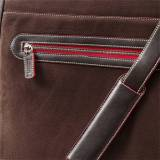 Кожаная сумка Ferrari Trademark classic suit holder Brown, артикул 270007458R