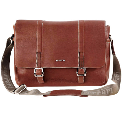 Кожаная сумка Ferrari Messenger Bag Brown