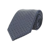 Галстук Ferrari Cavallino Rampante Tie Diamond pattern Blue Grey, артикул 270032611R