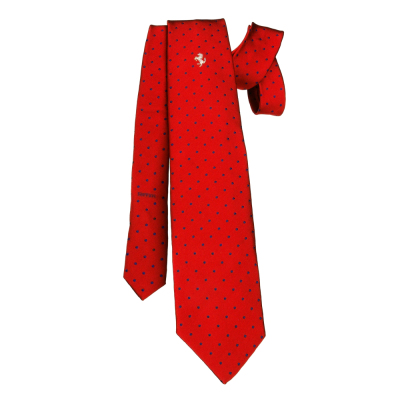 Галстук Ferrari Polka dot tie Red