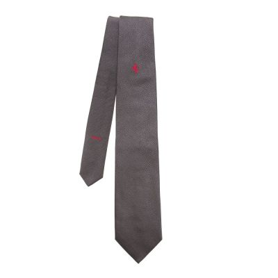 Галстук Ferrari Tie wording Grey