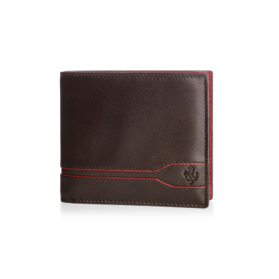 Кожаный кошелек Ferrari Tod's Line Design coin wallet Brown