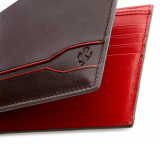 Кожаный кошелек Ferrari Tod's Line Design coin wallet Brown, артикул 280010400R