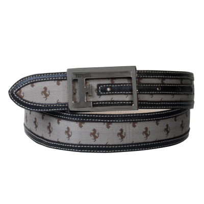 Ремень Ferrari All-over Prancing Horse F belt Beige