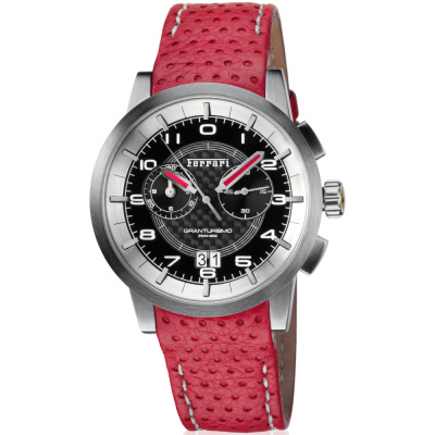 Наручные часы Ferrari Granturismo Chrono watch with strap in red leather