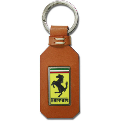 Ferrari tan leather GT keyring