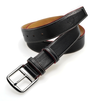 Мужской кожаный ремень Ferrari Men's Prancing Horse leather belt Black