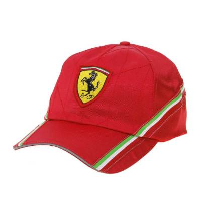 Бейсболка Ferrari Quilted baseball cap Red