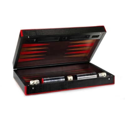 Carbon fibre backgammon set