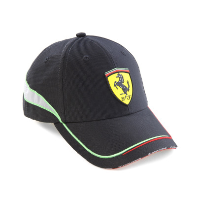 Мужская бейсболка Ferrari Technical fabric Scuderia baseball cap Black