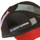 Мужская бейсболка Ferrari Technical fabric Scuderia baseball cap Black, артикул 270009314R