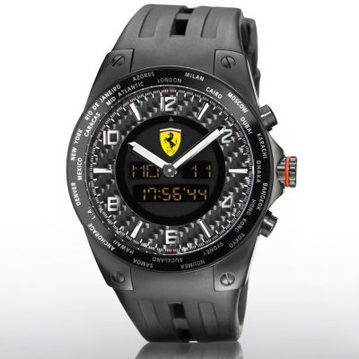 Наручные часы Scuderia Ferrari Carbon World Time