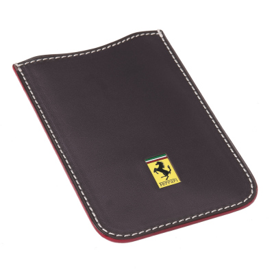 Кожаный футляр для тел. Ferrari Leather mobile phone holder Black