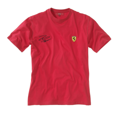 Men's Scuderia Ferrari round-necked t-shirt autographed by Massa
