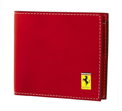 Мужской кожаный кошелек Ferrari Men's Leather Italian style wallet Red