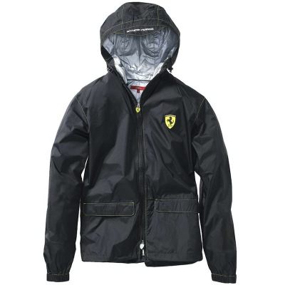 Мужская легкая непромокаемая куртка Scuderia Ferrari Men's rain jacket Black